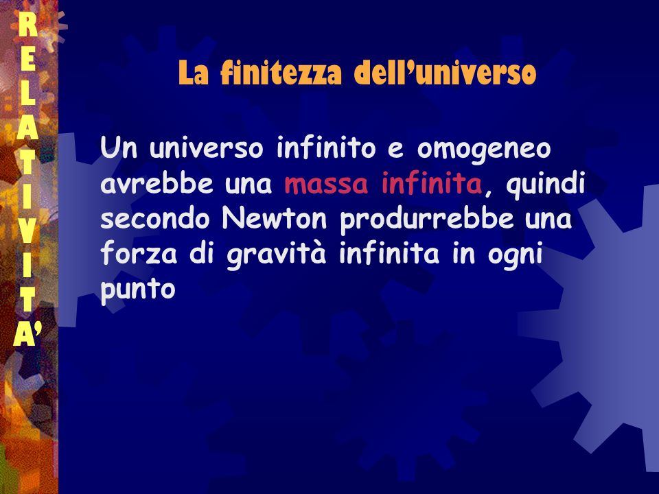 La finitezza dell'universo