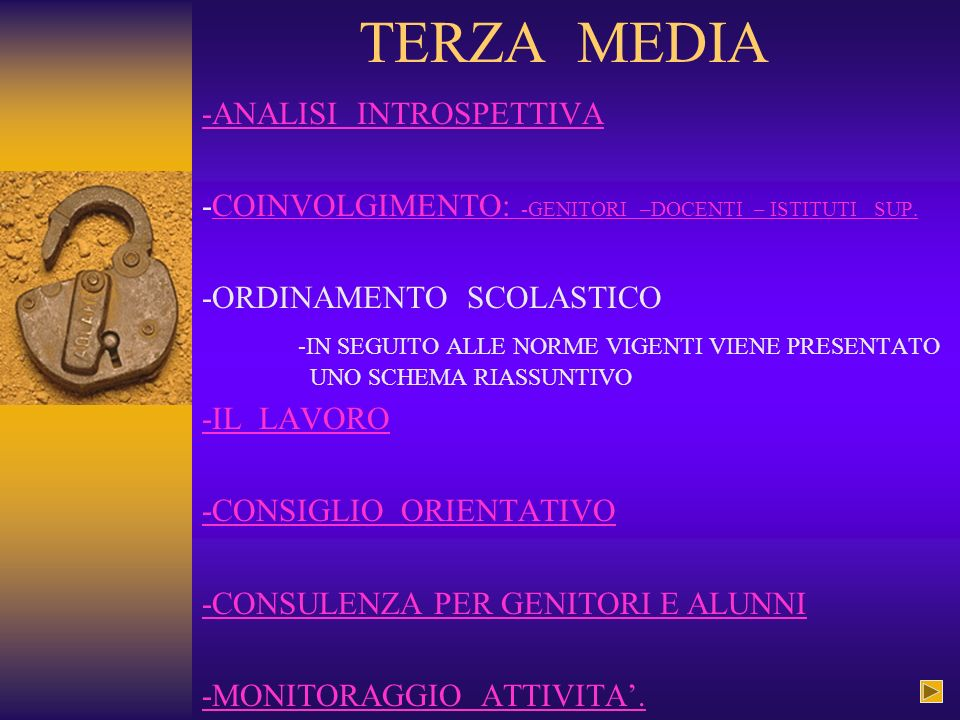 TERZA MEDIA -ANALISI INTROSPETTIVA