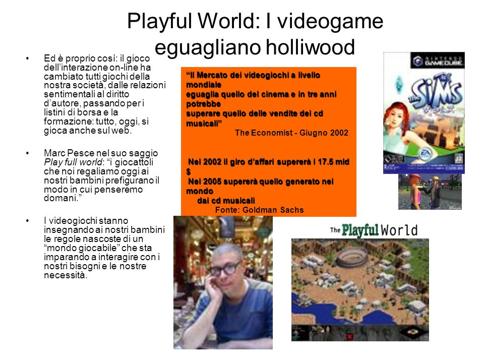 Playful World: I videogame eguagliano holliwood