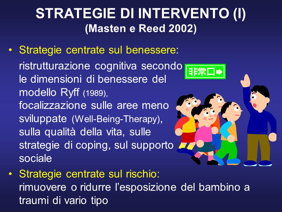 STRATEGIE DI INTERVENTO (I) (Masten e Reed 2002)