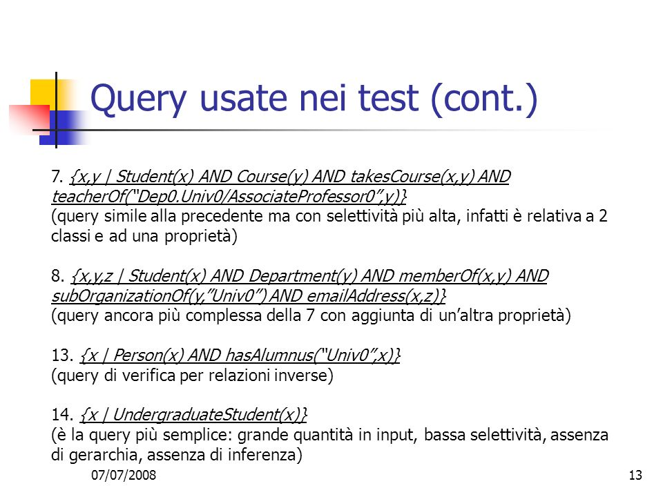 Query usate nei test (cont.)