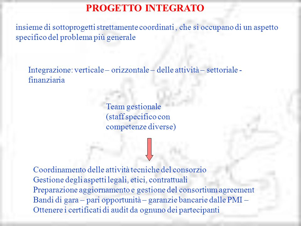 Team gestionale: Gestione tecnica del work