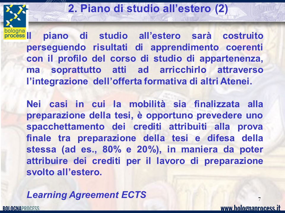 2. Piano di studio all'estero (2)