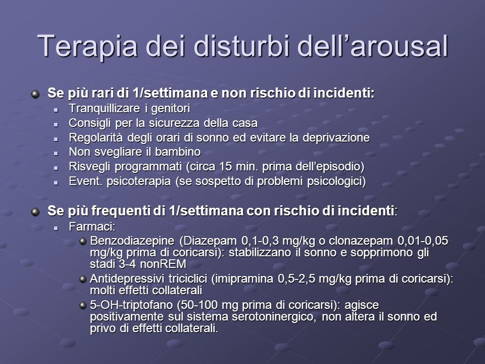Terapia dei disturbi dell'arousal