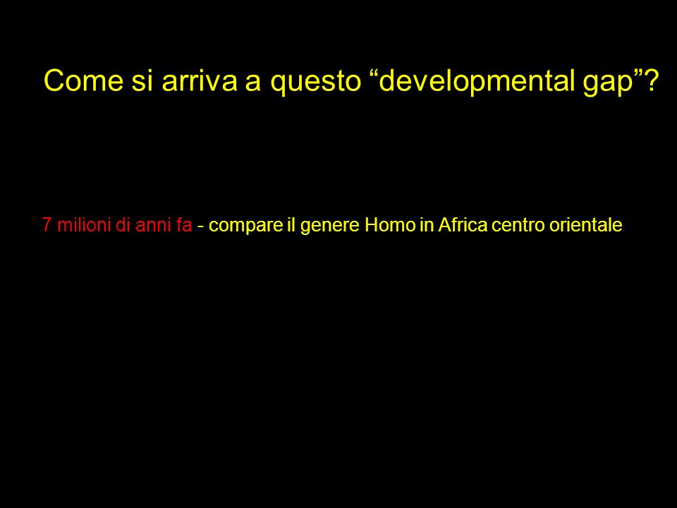 Come si arriva a questo developmental gap