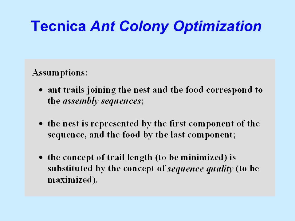 Tecnica Ant Colony Optimization
