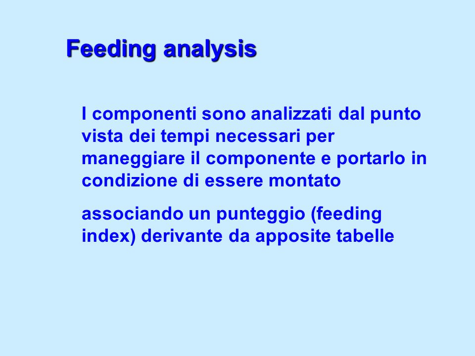 Feeding analysis