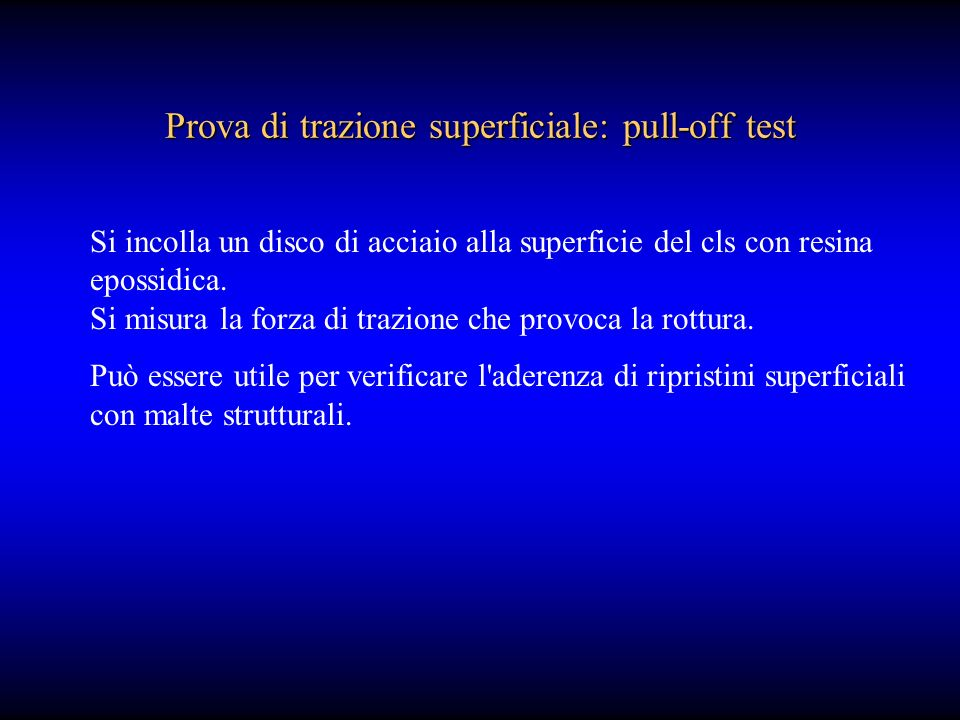 Prova di trazione superficiale: pull-off test