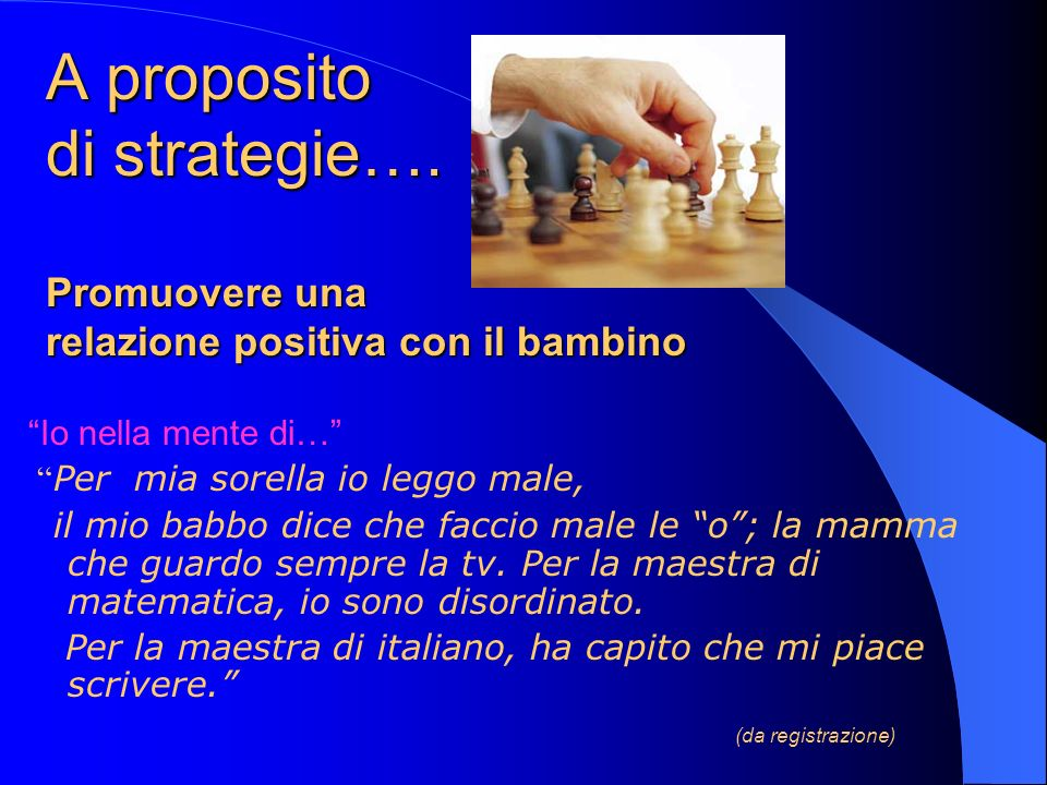 A proposito di strategie…