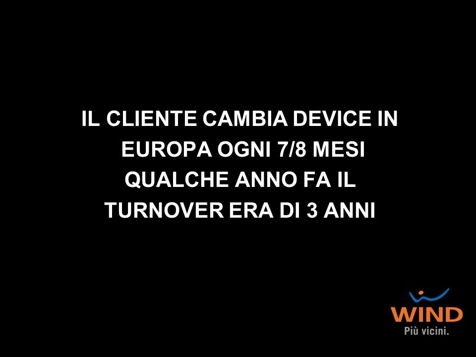 IL CLIENTE CAMBIA DEVICE IN