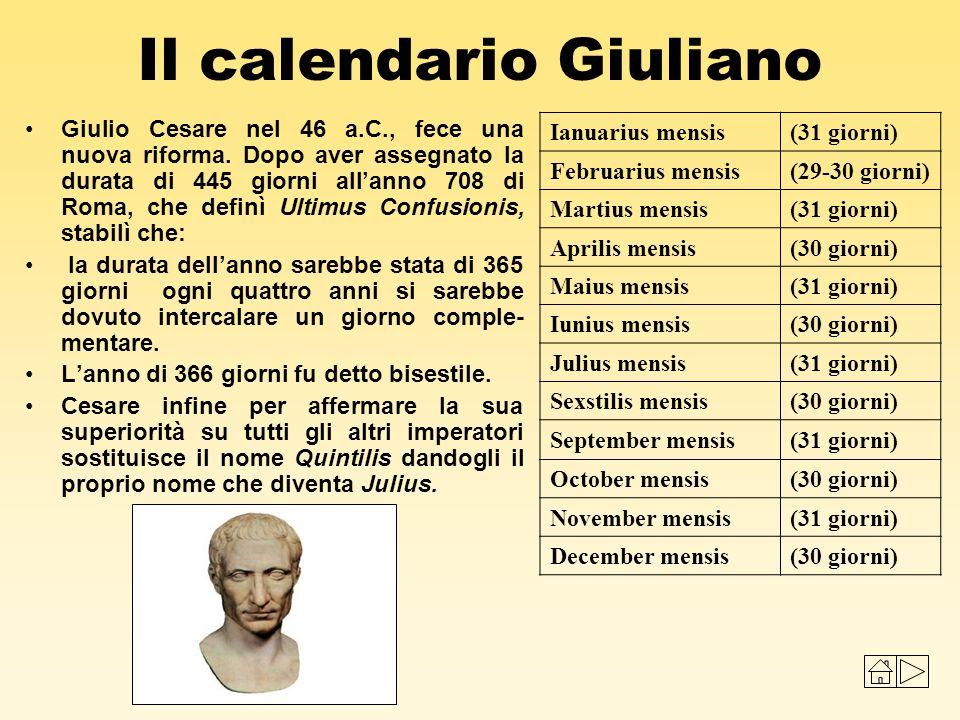 Risultati immagini per calendario giuliano