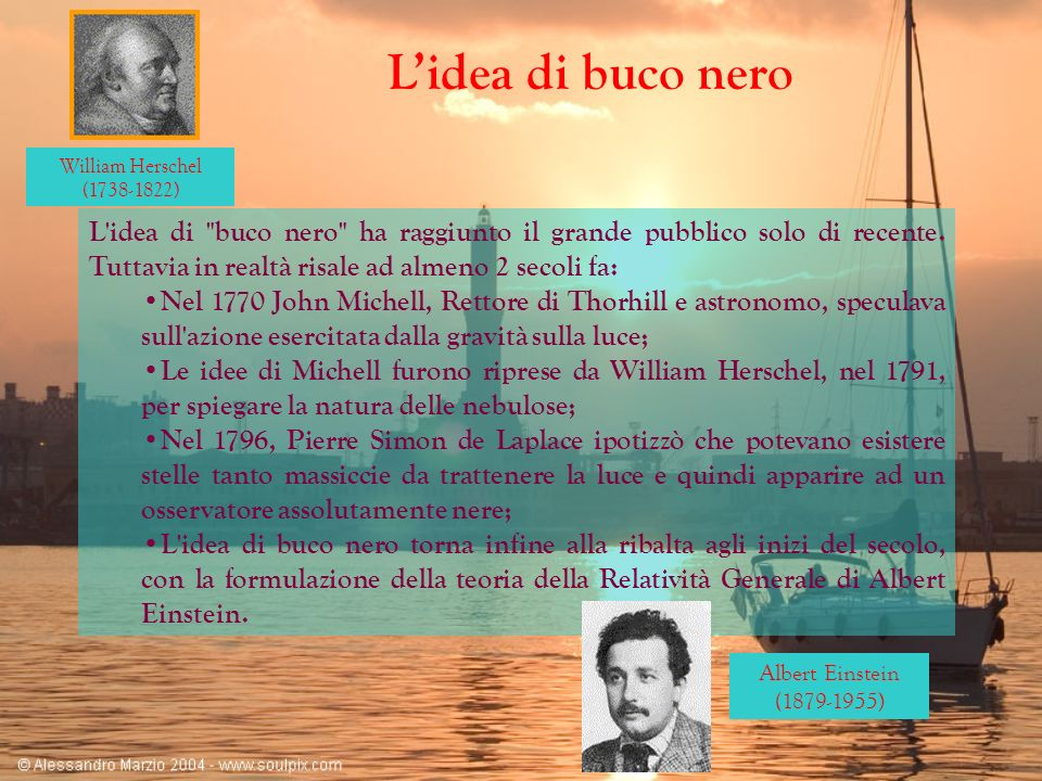 William Herschel ( ) L'idea di buco nero.