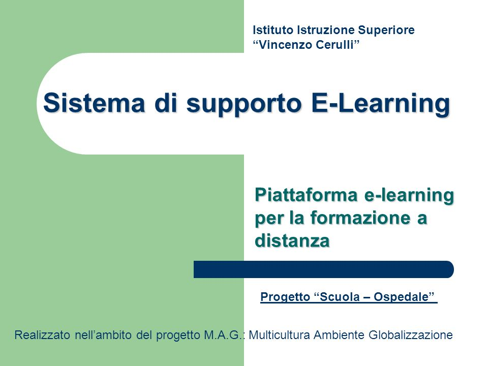 Sistema di supporto E-Learning