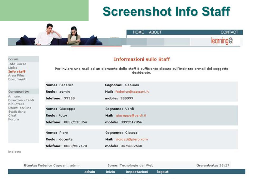 Screenshot Info Staff