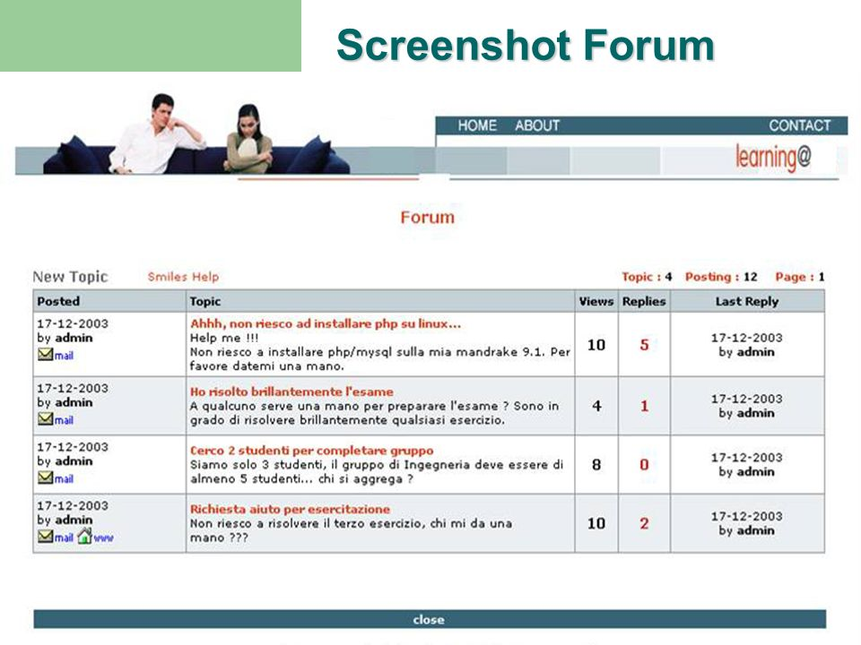 Screenshot Forum