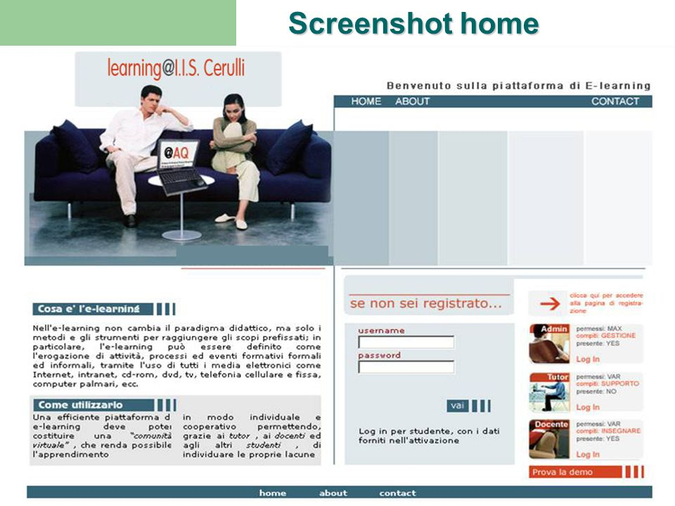 Screenshot home