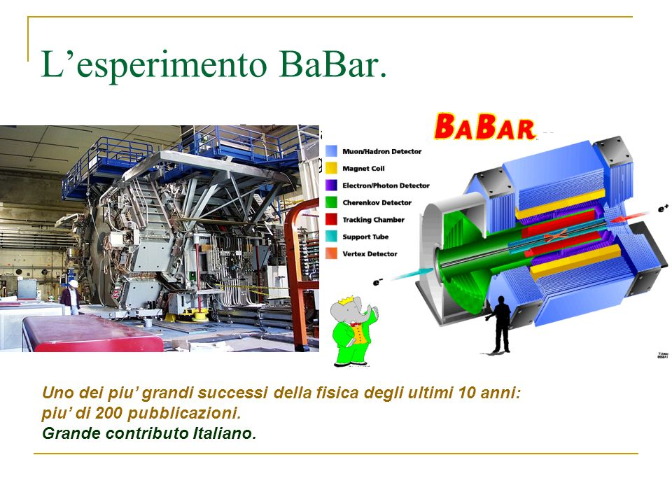 L'esperimento BaBar. 1. Start with a few x 107 B0 B0 pairs (more is better) 2. Reconstruct one B in a CP eigenstate decay mode.