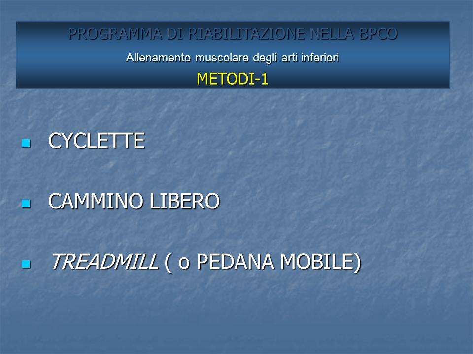 TREADMILL ( o PEDANA MOBILE)