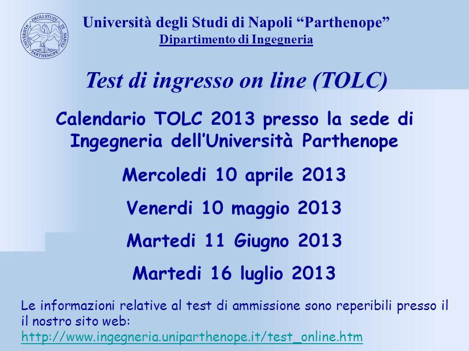 Tolc I Calendario.Universita Degli Studi Di Napoli Parthenope Ppt Scaricare