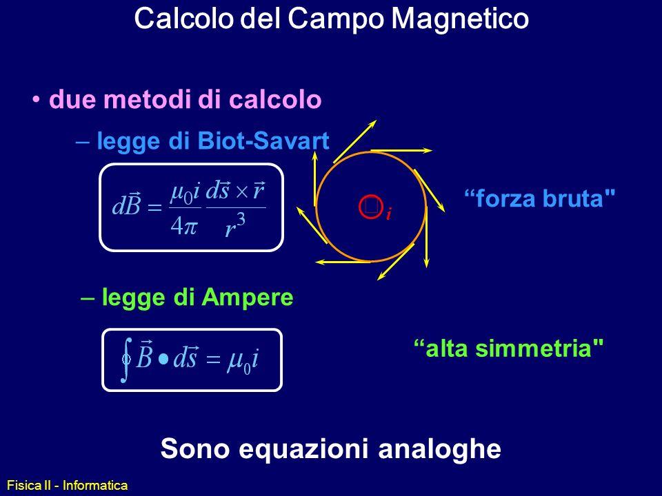afb0a3a88f2 ... analoghe Fisica II - Informatica. Calcolo del Campo Magnetico