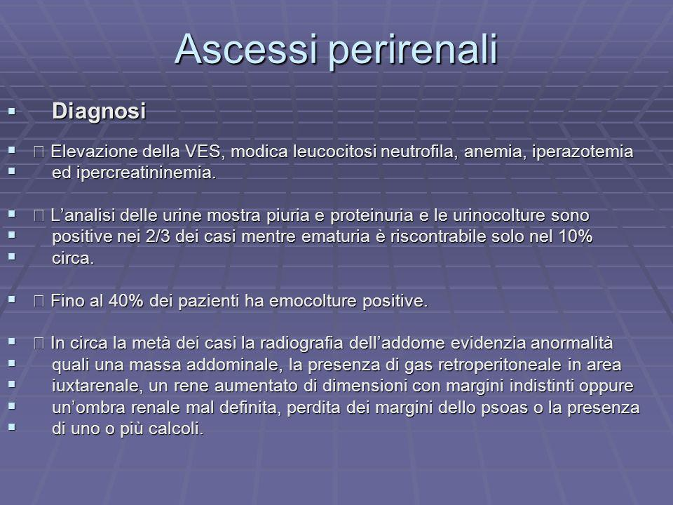Ascessi perirenali Diagnosi