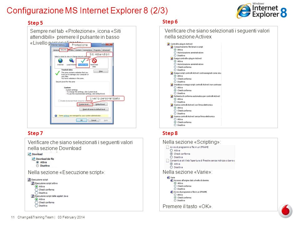 Configurazione MS Internet Explorer 8 (2/3)