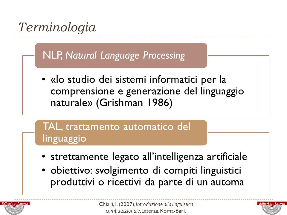 Terminologia NLP, Natural Language Processing.