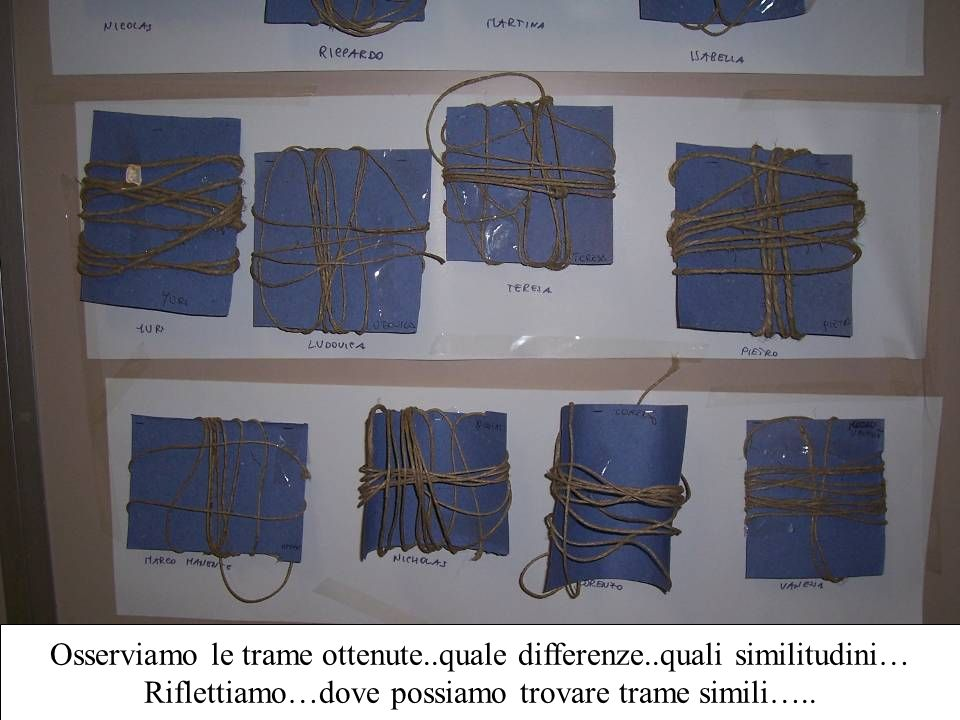 Osserviamo le trame ottenute..quale differenze..quali similitudini…
