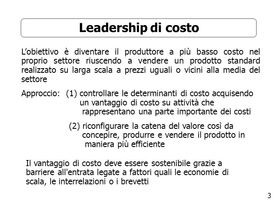 Leadership di costo