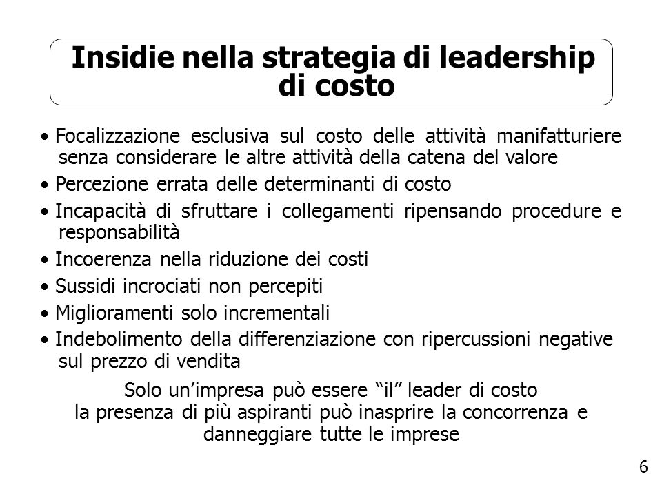 Insidie nella strategia di leadership