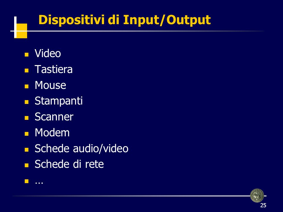 Dispositivi di Input/Output