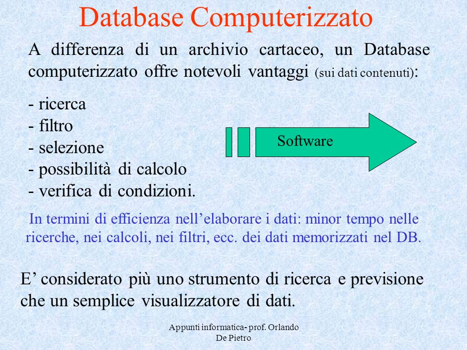 Database Computerizzato