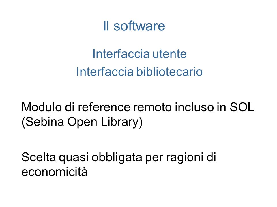 Interfaccia bibliotecario
