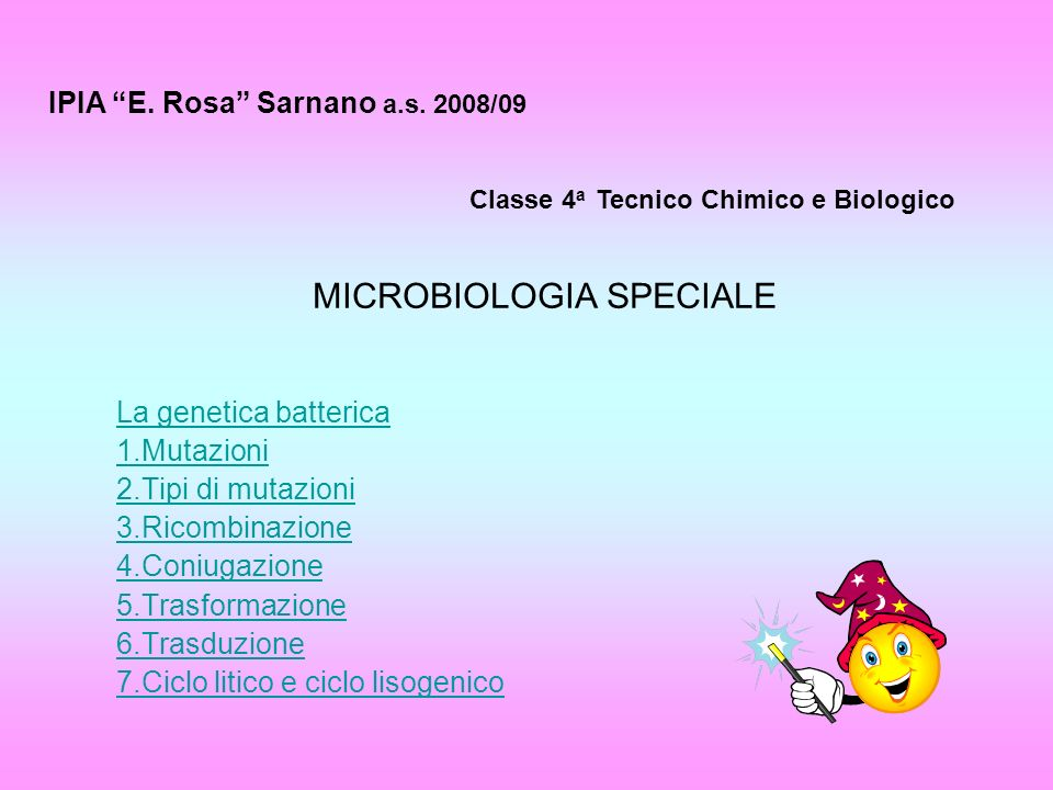 MICROBIOLOGIA SPECIALE