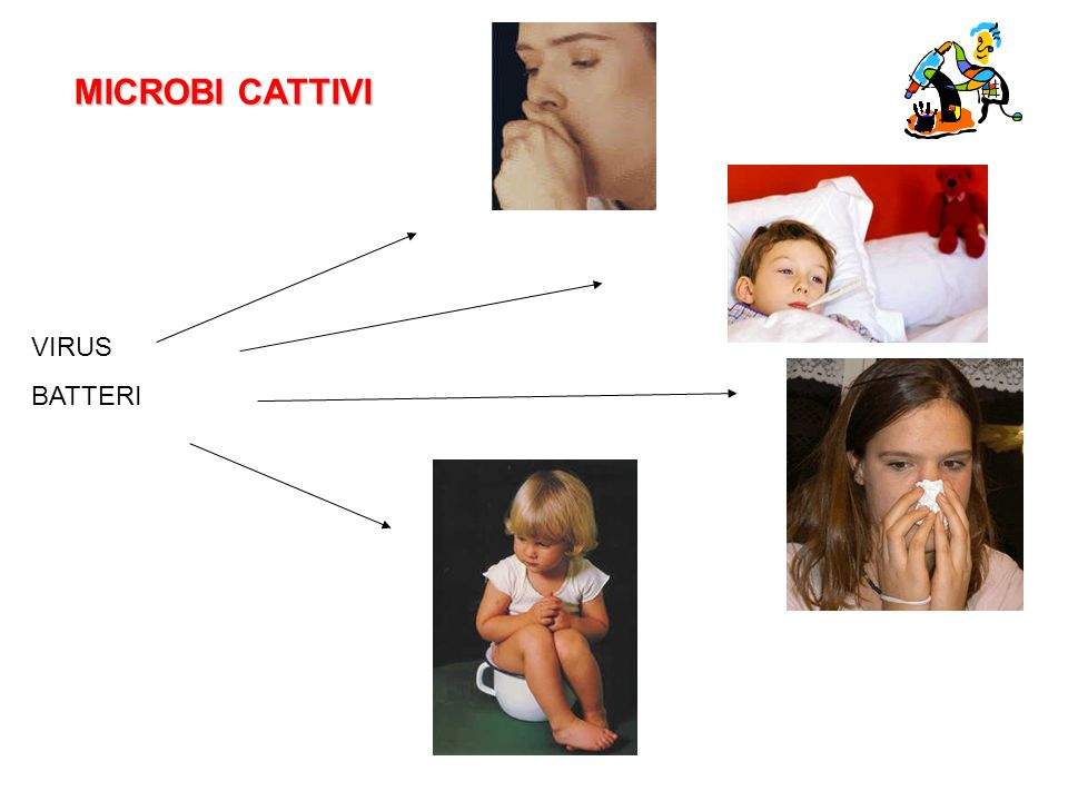 MICROBI CATTIVI VIRUS BATTERI