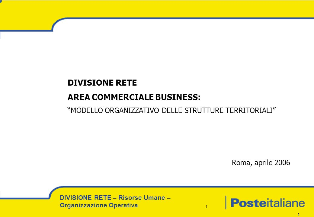 AREA COMMERCIALE BUSINESS:
