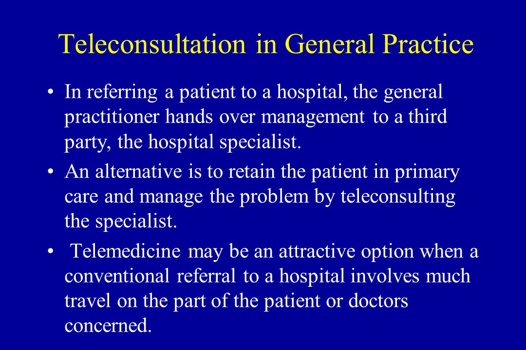 Teleconsultation in General Practice