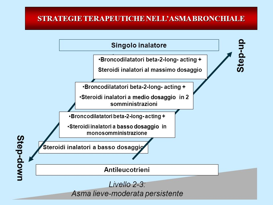 Step-up Step-down STRATEGIE TERAPEUTICHE NELL'ASMA BRONCHIALE