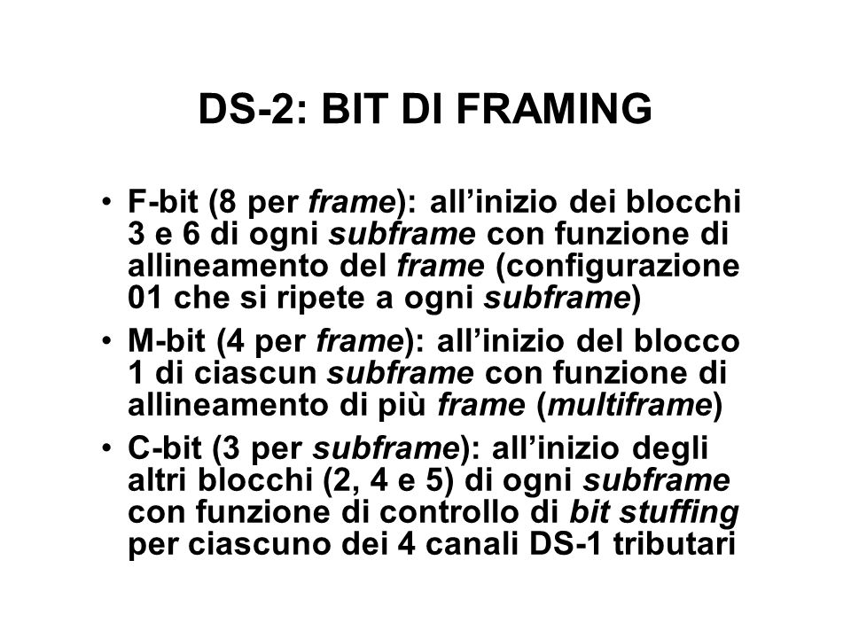 DS-2: BIT DI FRAMING