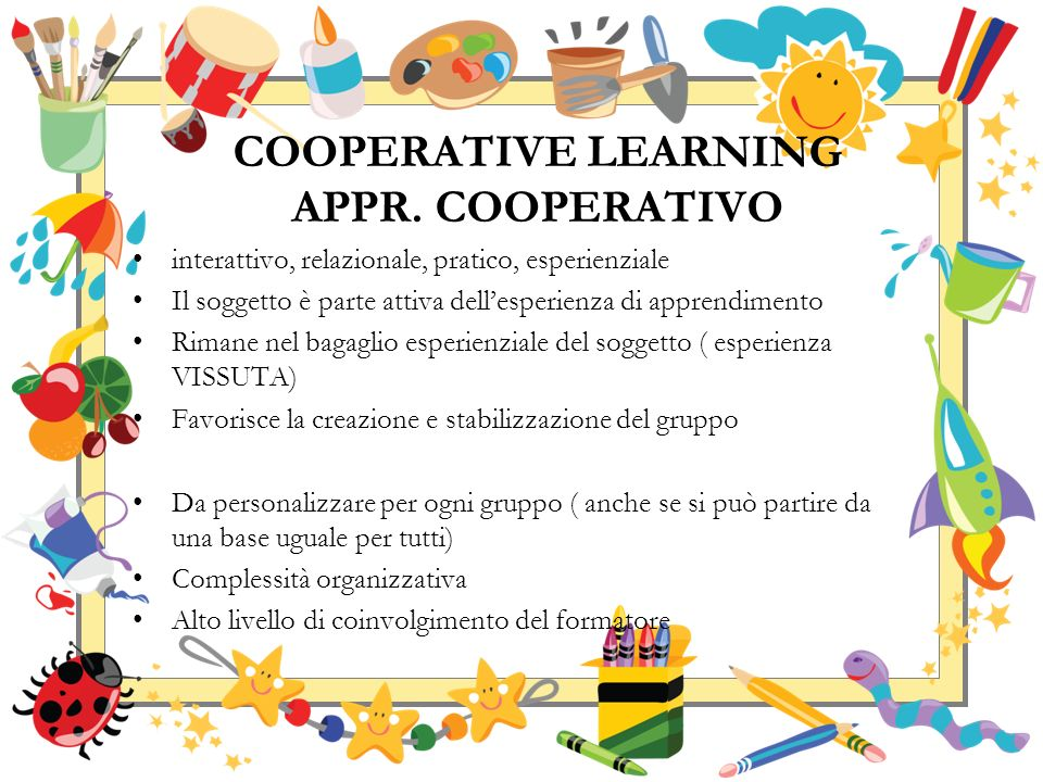 COOPERATIVE LEARNING APPR. COOPERATIVO