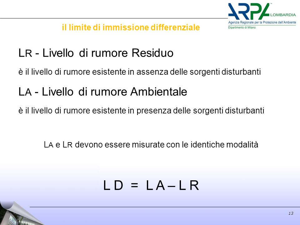 il limite di immissione differenziale