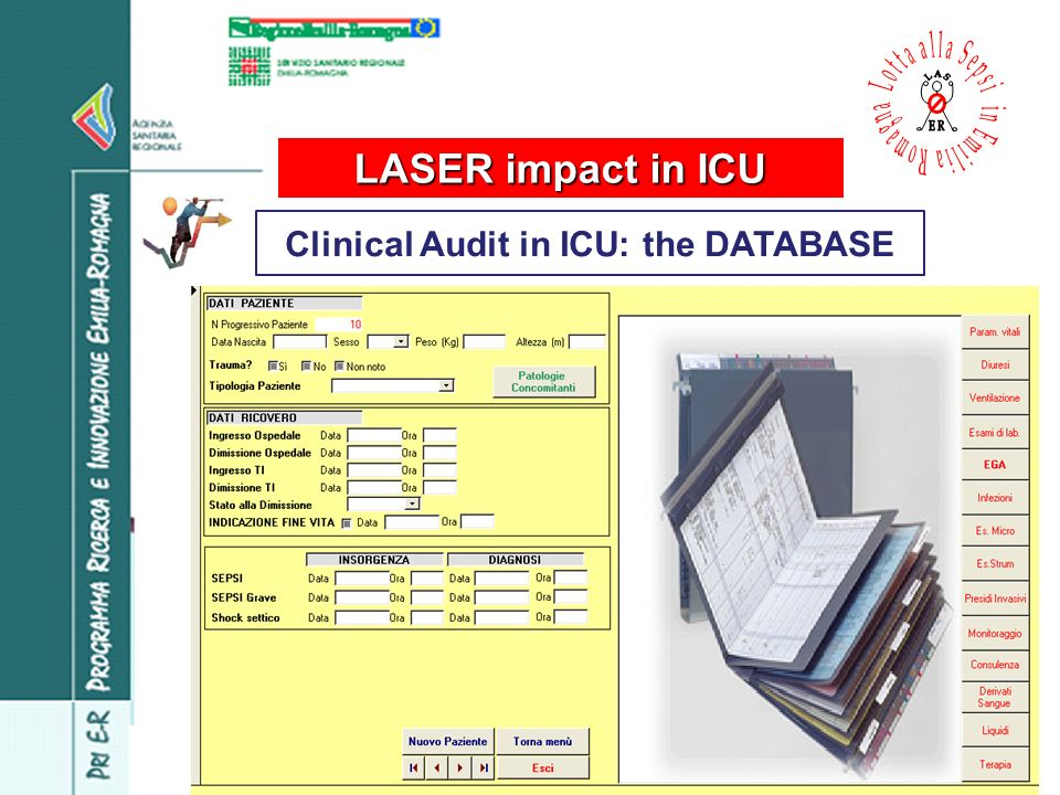 Clinical Audit in ICU: the DATABASE