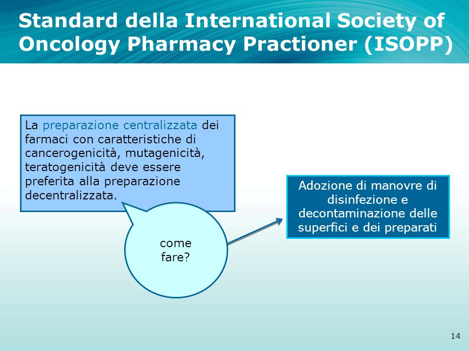 Standard della International Society of Oncology Pharmacy Practioner (ISOPP)