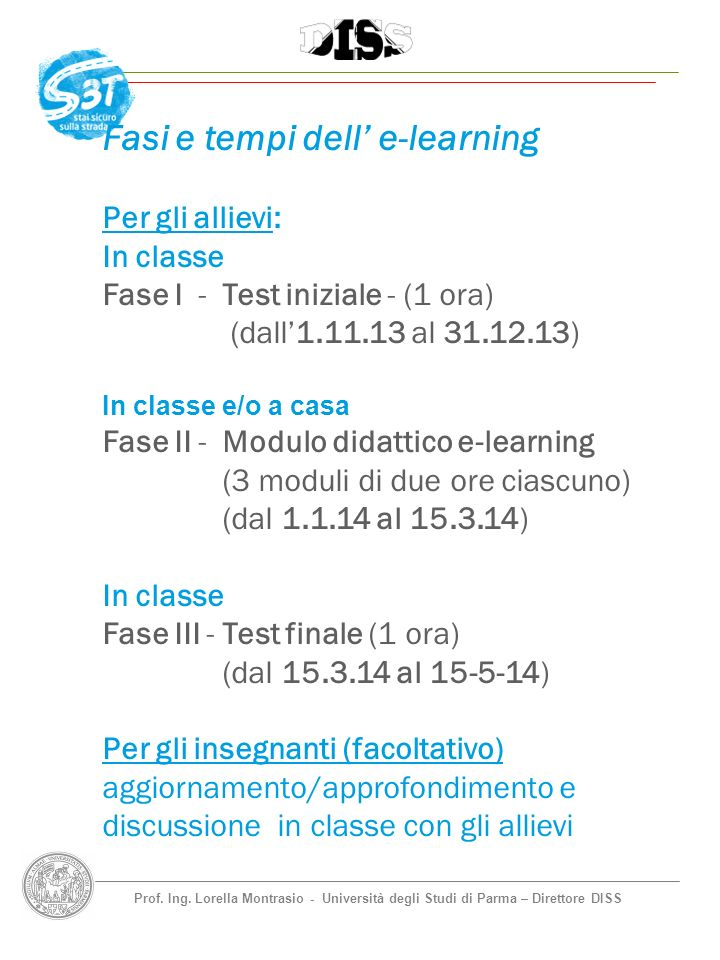 Fasi e tempi dell' e-learning