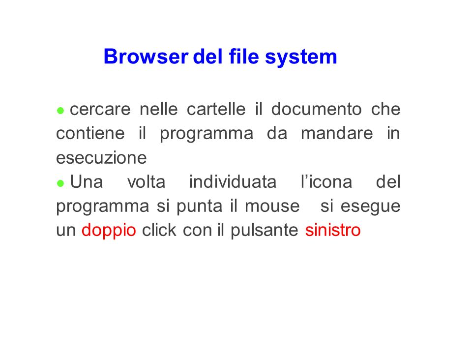 Browser del file system