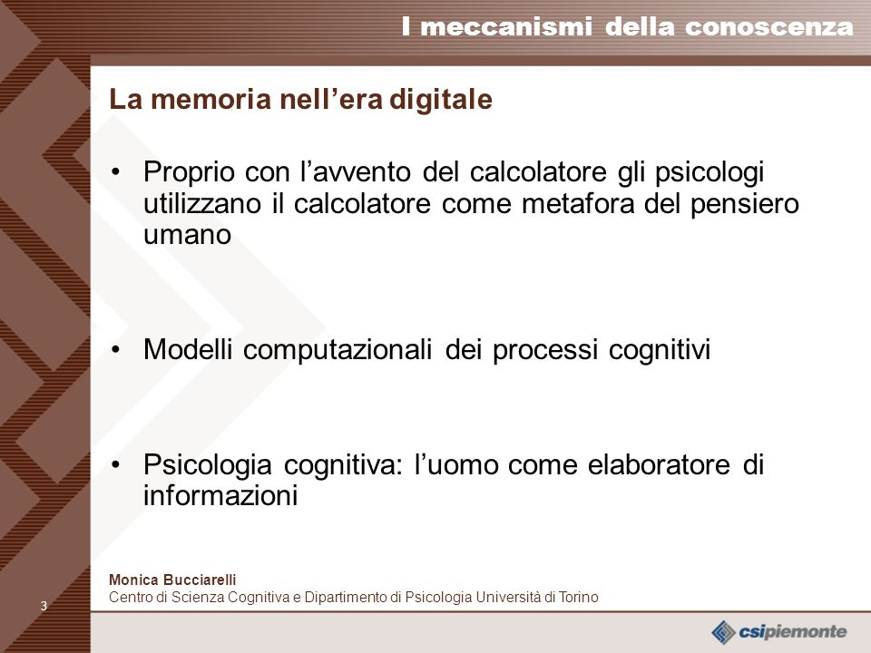 La memoria nell'era digitale