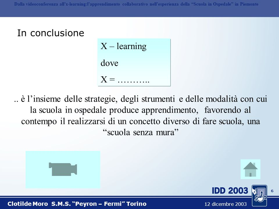 In conclusione X – learning dove X = ………..