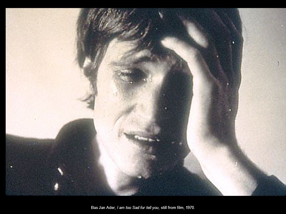 Bas Jan Ader, I am too Sad for tell you, still from film, 1970.