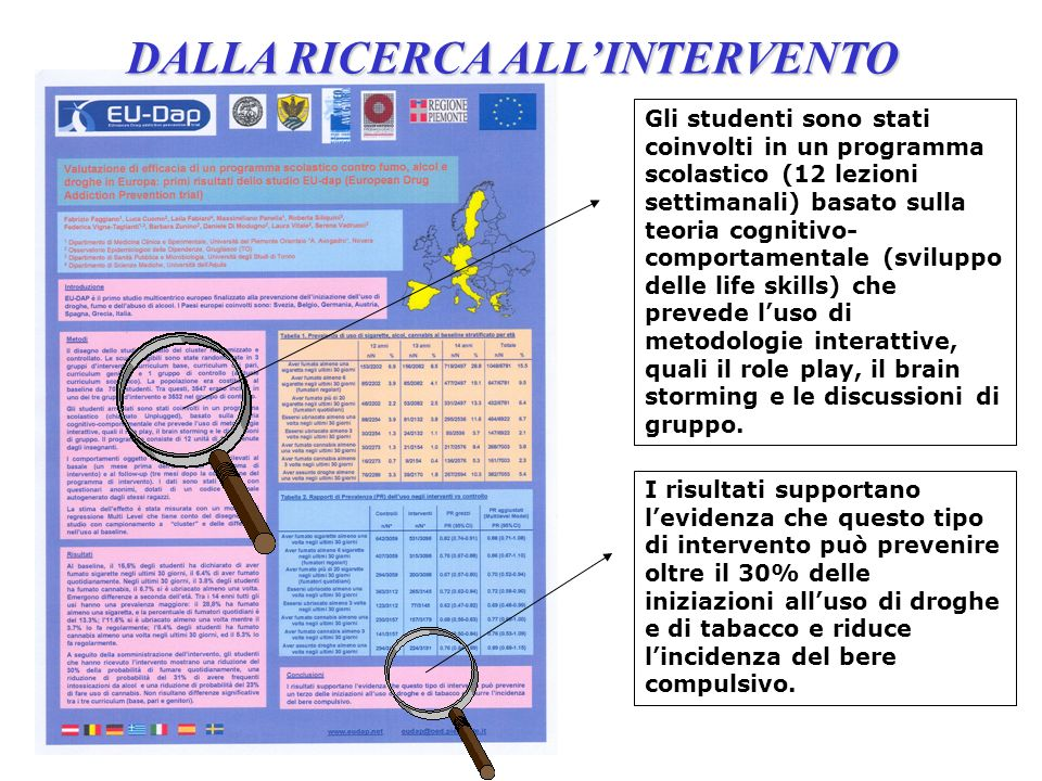 DALLA RICERCA ALL'INTERVENTO