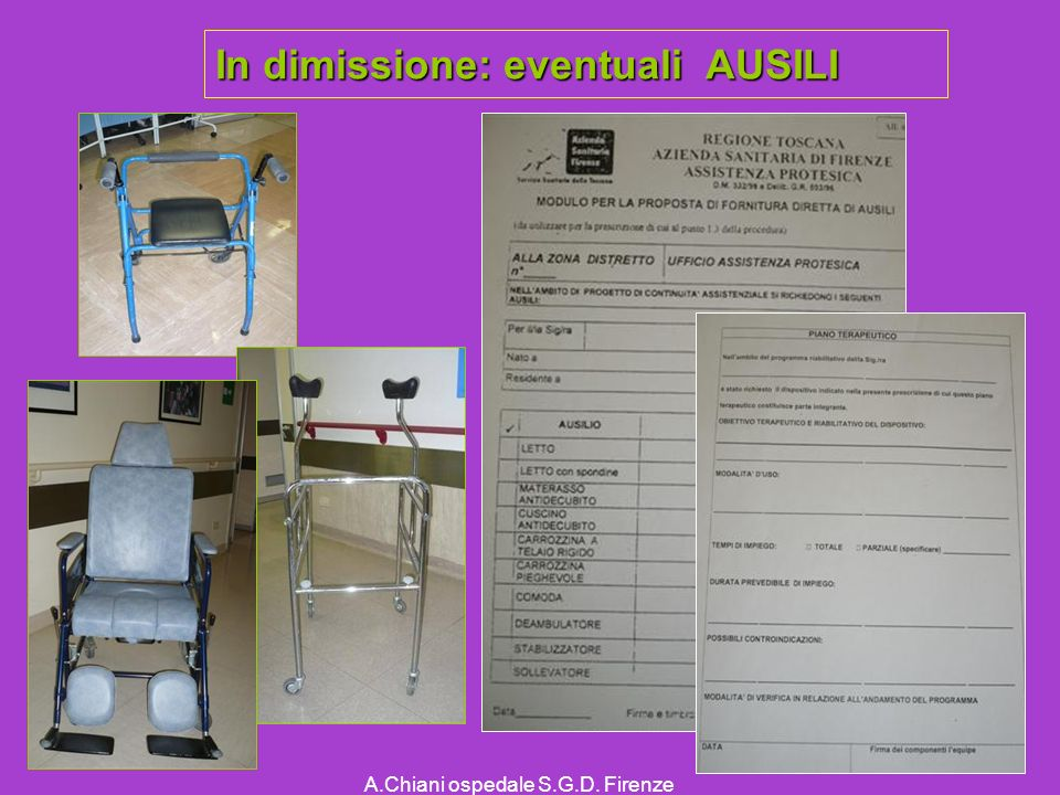 In dimissione: eventuali AUSILI
